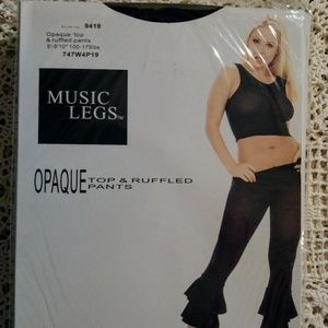 0011f8a24b7 Music Legs Opaque Top with Ruffled Pants